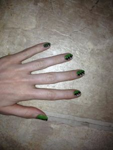 Halloween Frankenstein nails | Look at me, it's Carra D!