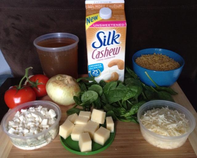 Mac N Cheese Ingredients with Silk CashewMilk