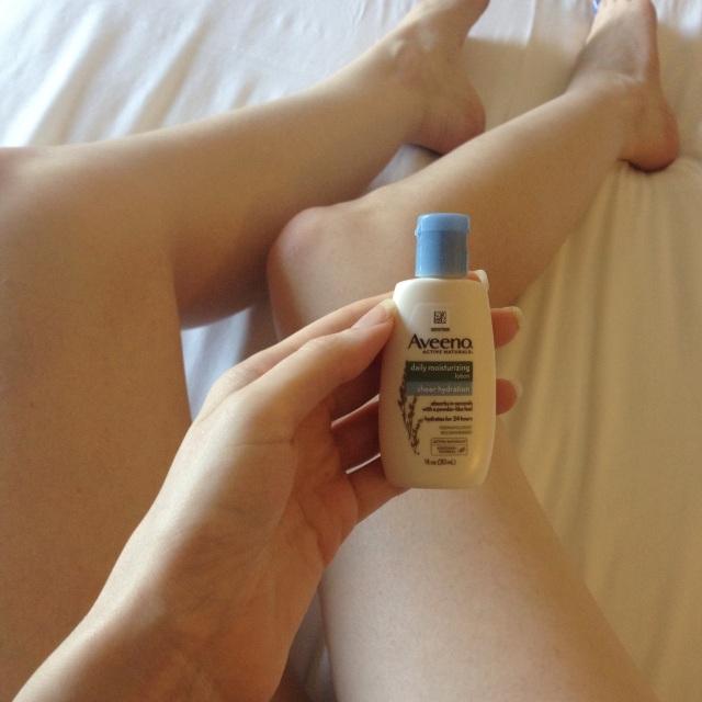 Aveeno Lotion legs