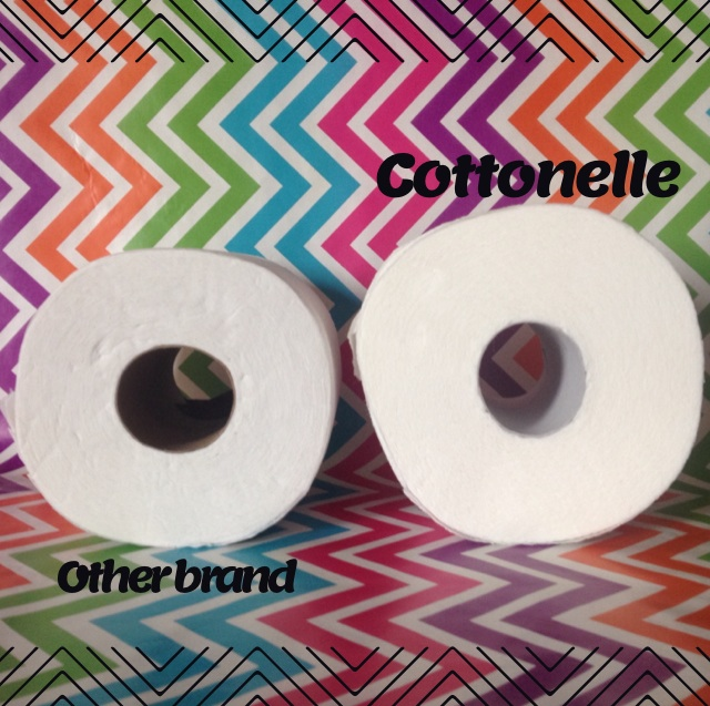Cottonelle Mega roll size
