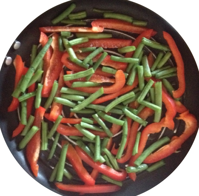 green beans & red pepper