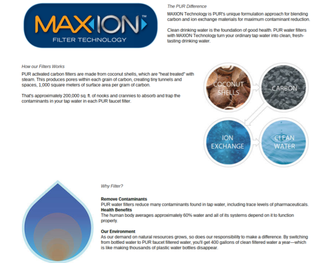 PUR Max ion filter