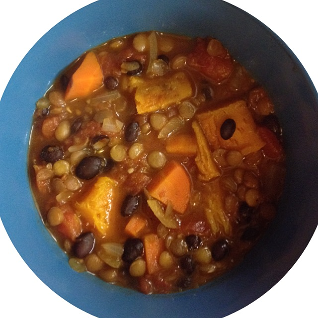 Lentil Black bean soup