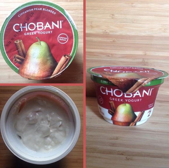 Chobani pear and cinnamon