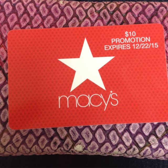 Macys $10 promo