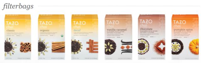 Tazo Chai filterbags