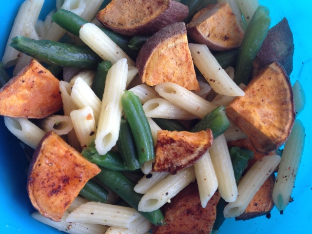 Pasta Potato Green Beans