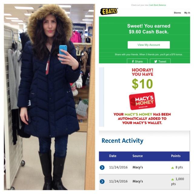 ebates tommy coat