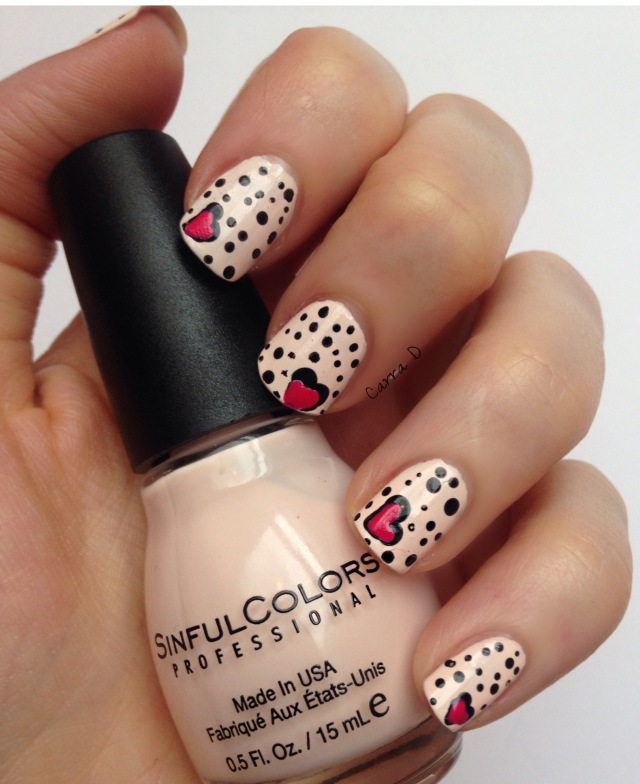 Hearts & Dots Nail Art