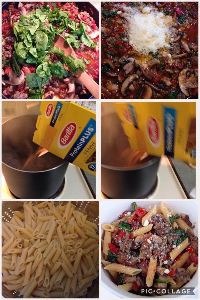 barilla proteinplus sausage & veggie sauce