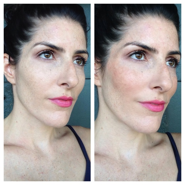 Revlon insta-blush Nude Kiss Before After